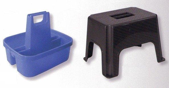 Universalstuhl mit Kunststoff-Werkzeugkasten - komplett