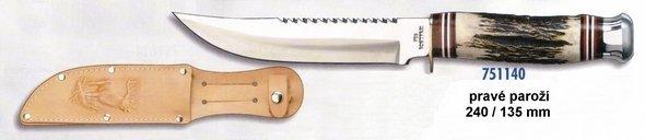 Messer öffnen - rechtes Geweih