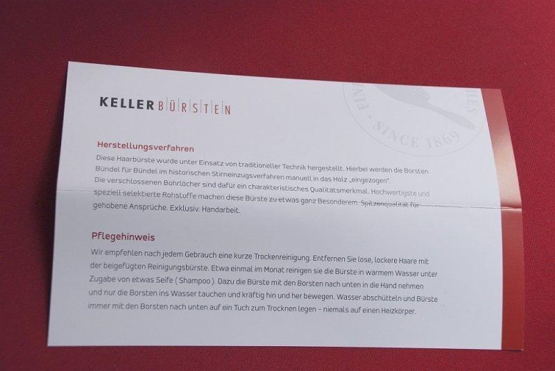 KELLER Exklusive Oliva Line Bürste - traditionell handgefertigt 7