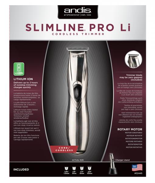 Andis Slimline Pro Li T-Blade Silber 2