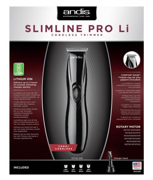 Andis Slimline Pro Li T-Blade Schwarz 3
