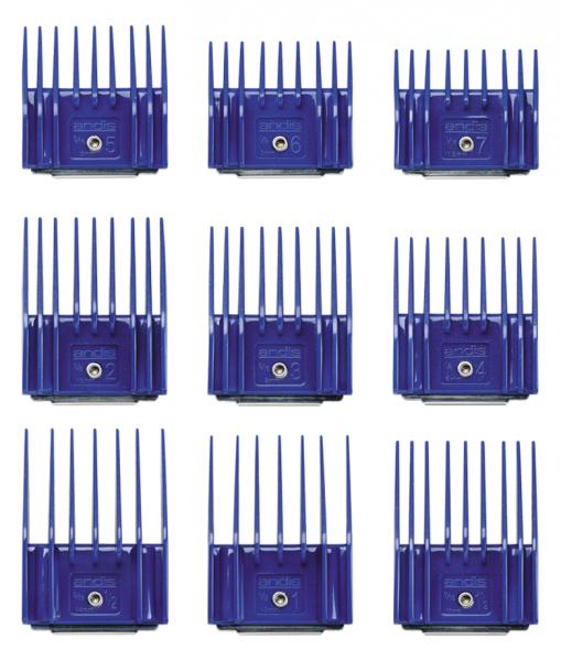 Andis Kunststoffkammset mit Metallclip - Set I (1,5-14 mm) 2