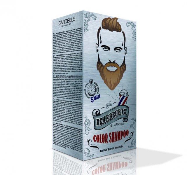 Beardburys Hair & Beard Coloring Shampoo - Hellbraun 2