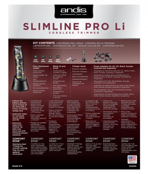Andis Slimline Pro Li T-Klingenschere 4
