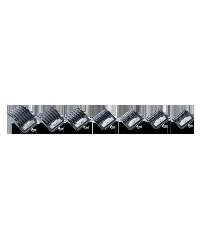 Set aus hochwertigen Andis-Kunststoffkämmen mit einem Master Premium-Metallclip 3