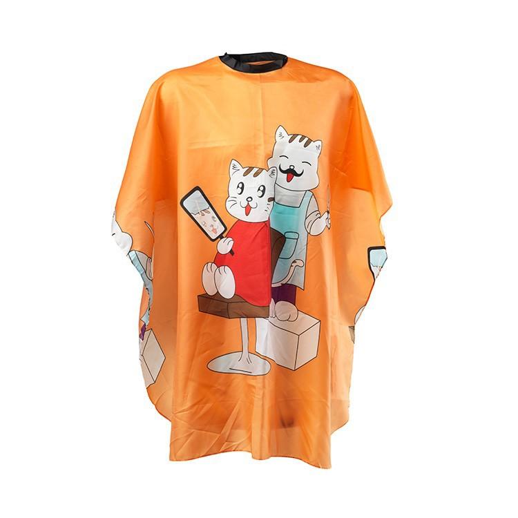 Kinderfriseur Regenmantel mit Katzenmotiv