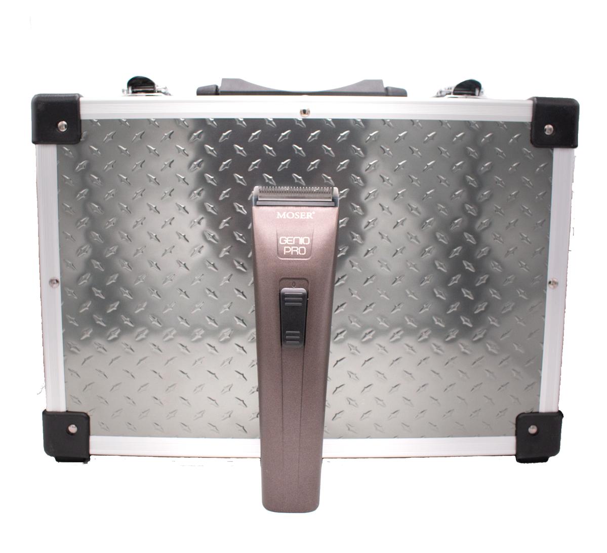 MOSER Genio Pro + pevný kufr 2